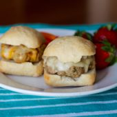 Mini Turkey Cheeseburgers {Freezer Meal}
