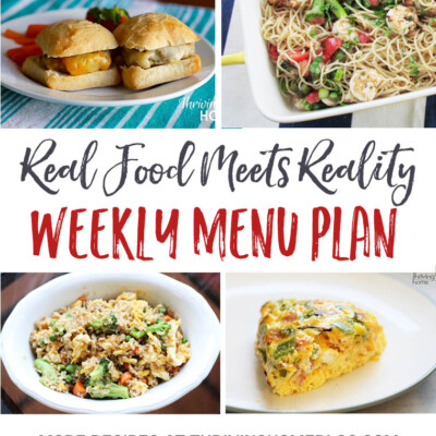 Weekly Menu Plan + Top 5 Stock Up & Save Deals