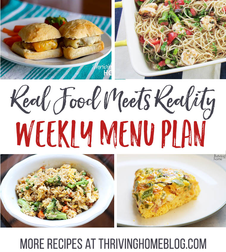 Real Food Menu Plan for February 21-28: Easy and delicious meal ideas that the whole family will love. Posted every Friday at Thriving Home.