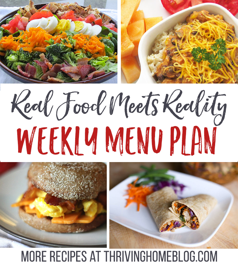 Real Food Menu Plan for February 7-13: Easy and delicious meal ideas that the whole family will love. Posted every Friday at Thriving Home.