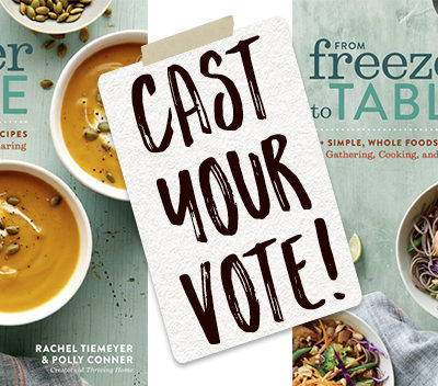 Which Cookbook Cover Should We Use? Your Vote Counts!