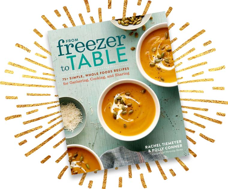 Our cookbook story from freezer to table thriving home our cookbook story from freezer to table forumfinder Images