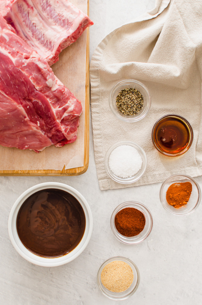 ingredients for instant pot baby back ribs recipe