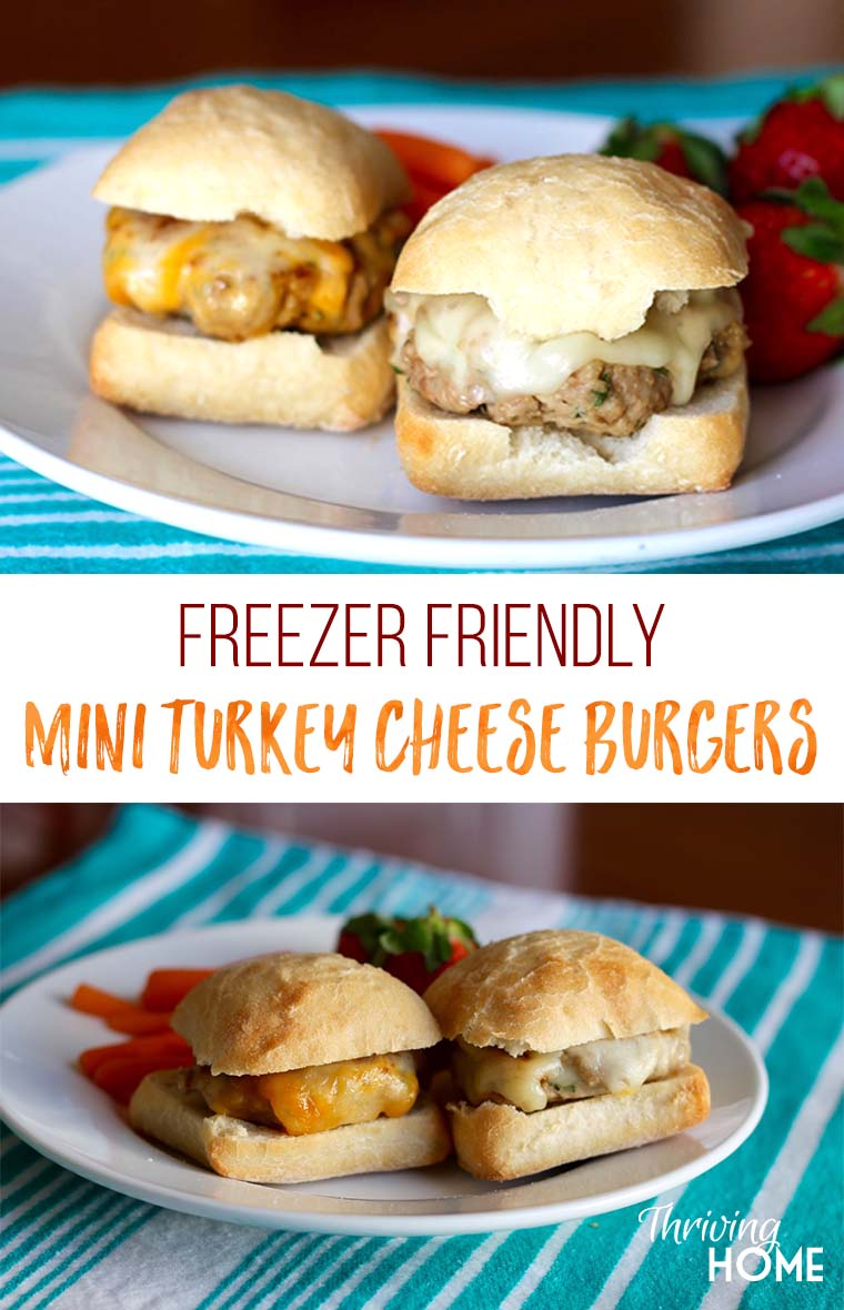 These Mini Turkey Cheese Burgers are full of flavor and are a family favorite. Be sure to double and freeze an extra batch for later.