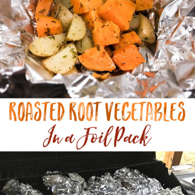 Roasted Root Vegetables in a Foil Pack