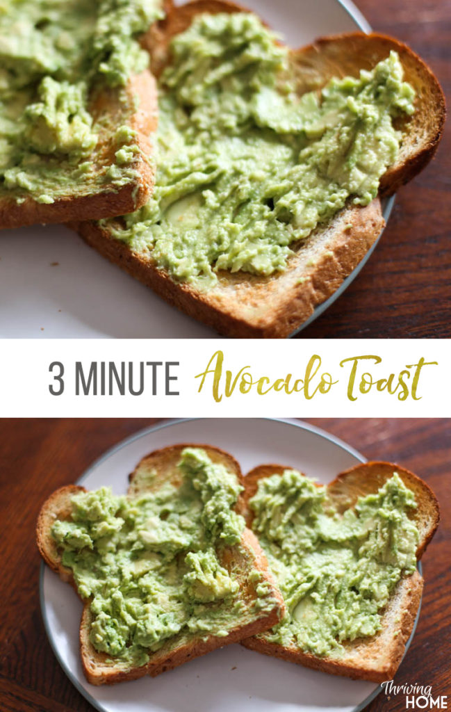 Avocado Toast is one of the easiest lunch ideas that can be customized to just how you like it. Super healthy too!