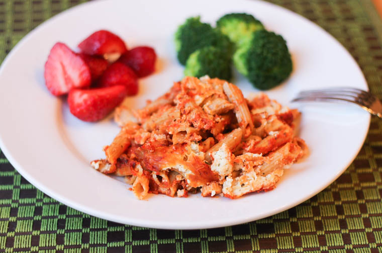 4 Cheese Penne Pasta with whole wheat pasta is a healthier baked pasta that comes together quickly.