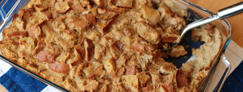 Use up leftovers to create this delicious make-ahead Banana Pecan Baked French Toast.