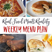Real Food Menu Plan for March 27-April 2: Easy and delicious meal ideas that the whole family will love. Posted every Friday at Thriving Home.