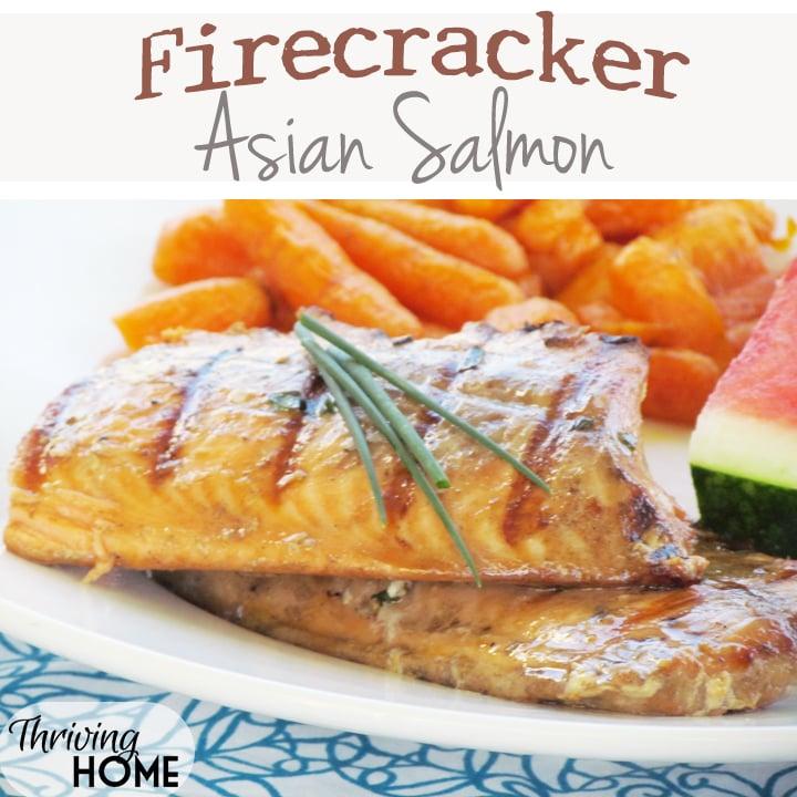 Firecracker asian salmon