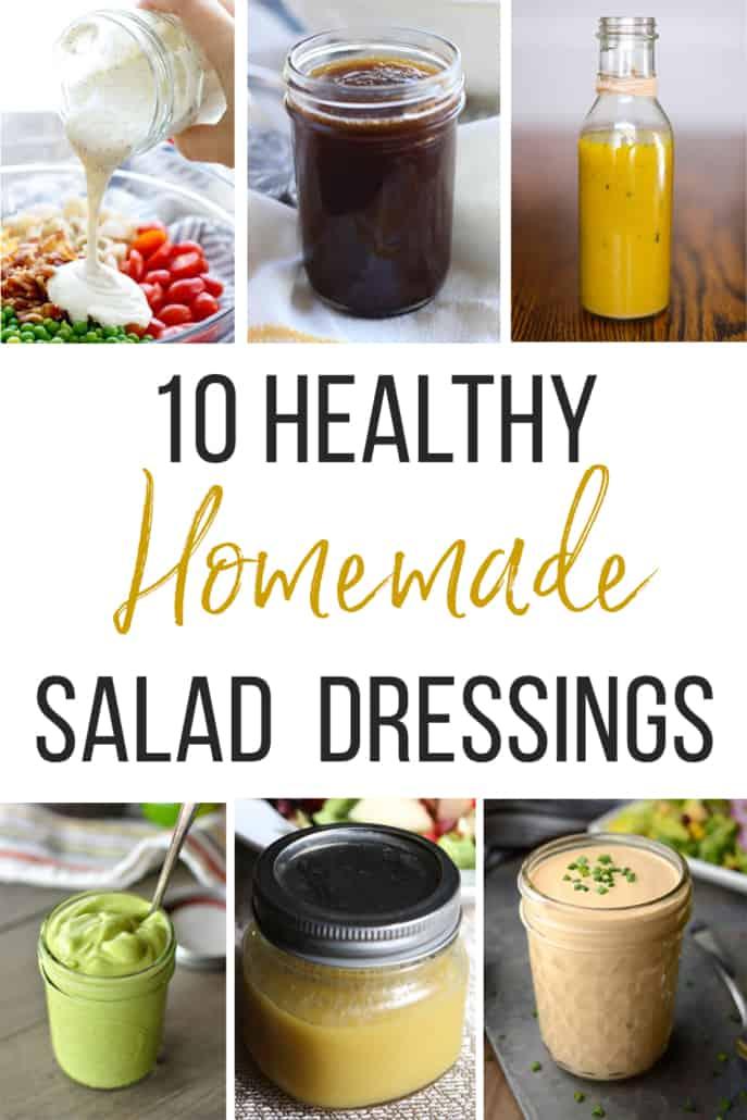 10 healthy homemade salad dressings