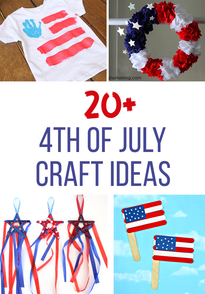 Great collection of 4th of July craft ideas. Ideas for kids and adults to do! Such a fun way to celebrate the fourth of July.