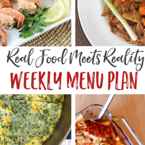 Real Food Menu Plan for April 24-30: Easy and delicious meal ideas that the whole family will love. Posted every Friday at Thriving Home.