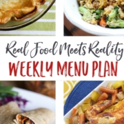 Real Food Menu Plan for May 1-7: Easy and delicious meal ideas that the whole family will love. Posted every Friday at Thriving Home.