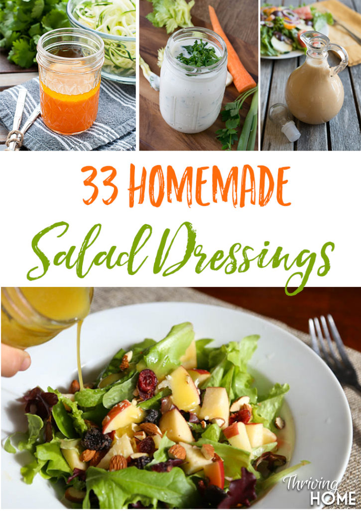 Huge roundup of homemade salad dressings. Keeping this handy for sure!!