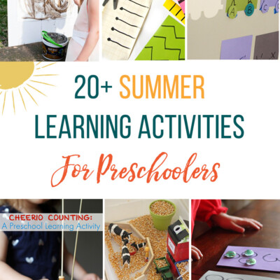 Round up of easy summer learning activities for preschoolers