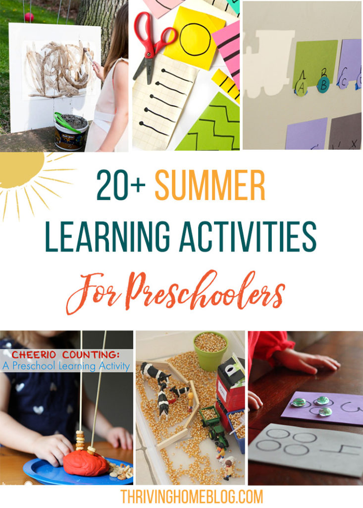 Great roundup of summer learning activities for preschoolers. Lots of easy, free ideas included.