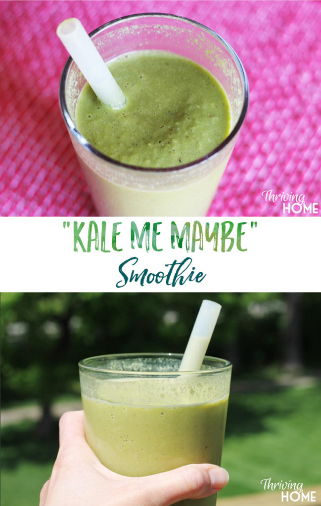 The combo of mango, cinnamon, and vanilla almond milk create an interesting Indian-inspired cool treat that totally masks any bitterness from the kale.