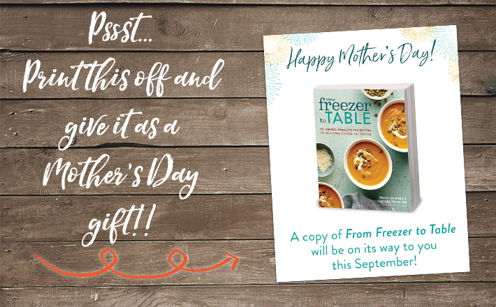 It's not too late! Order today and print out our FREE Mother's Day card to include. Best gift ever. Done in 2 minutes.