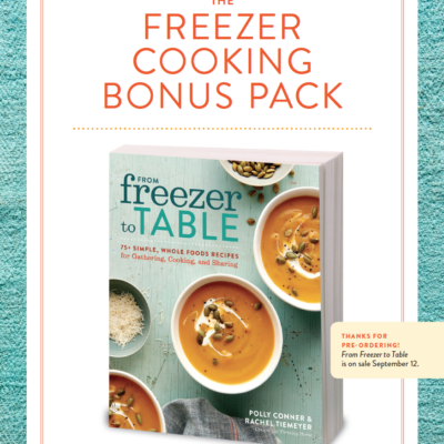 Freezer Cooking Bonus Pack