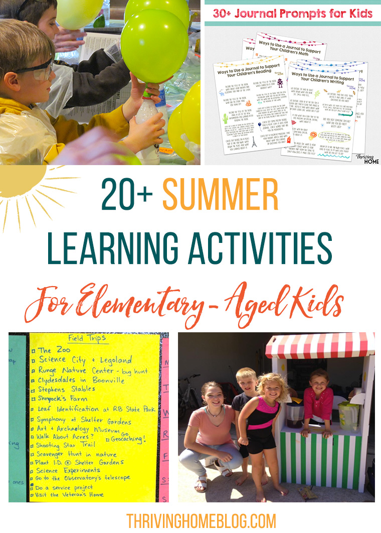 These easy and fun summer learning activities are perfect for elementary-aged kids.