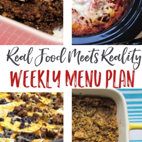 Real Food Menu Plan for May 22-28: Easy and delicious meal ideas that the whole family will love. Posted every Friday at Thriving Home.