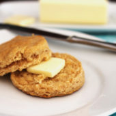 100% real food ingredients! These 5-ingredient Whole Wheat Buttermilk Biscuits are absolutely delicious!