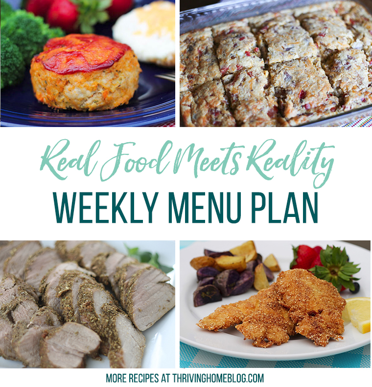 Real Food Menu Plan for June 4-June 10: Easy and delicious meal ideas that the whole family will love. Posted every Friday at Thriving Home.