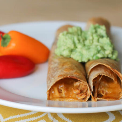 Instant Pot Chicken and Cheese Taquitos {Freezer Meal}