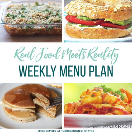 Real Food Menu Plan for June 26-July 2: Easy and delicious meal ideas that the whole family will love. Posted every Friday at Thriving Home.