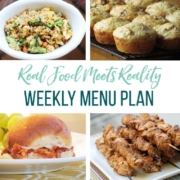 Real Food Menu Plan for July 10-July 16: Easy and delicious meal ideas that the whole family will love. Posted every Friday at Thriving Home.