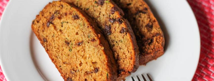 Zucchini Bread on a plate