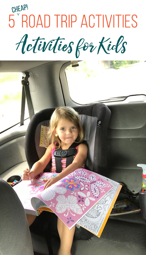 5 (cheap) road trip activities that my kids loved! Great ideas to stock up on for any long drives you have in your future.