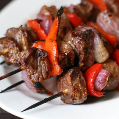Grilled Sirloin Steak Kebabs