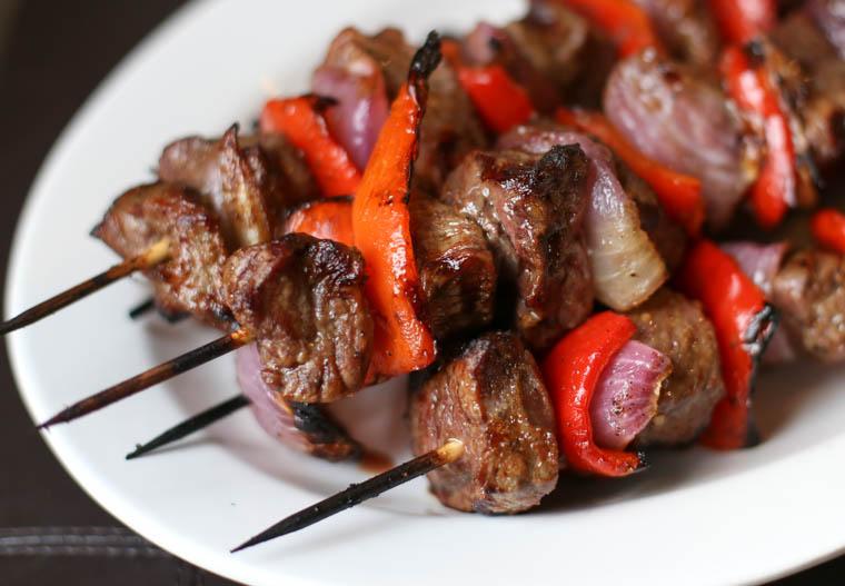 Grilled sirloin steak kabobs