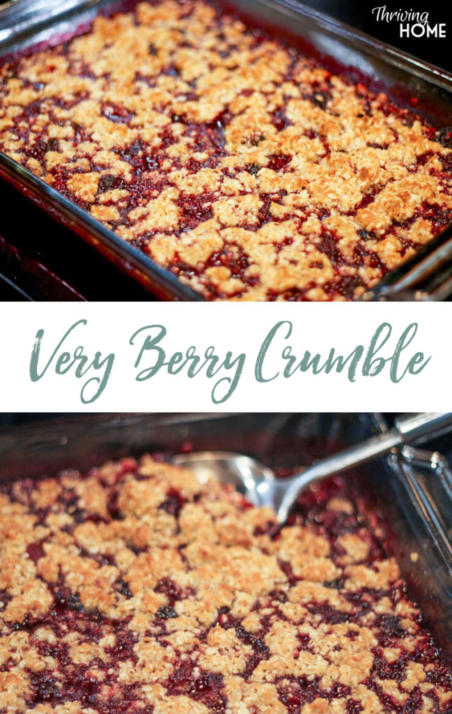 The Very Berry Crumble lets your summer berries shine, while adding a little crispy, sweet topping that pairs perfectly with some vanilla ice cream.