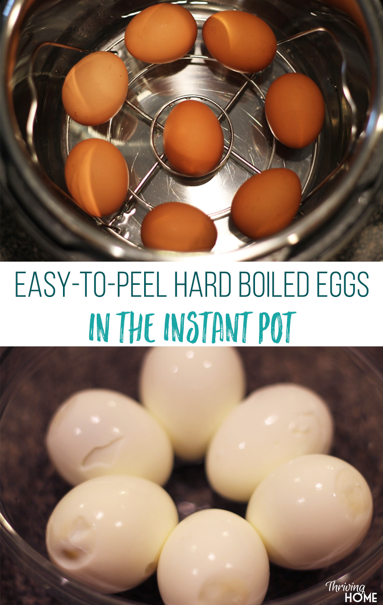 It's like magic! These Instant Pot Hard Boiled Eggs really are cooked perfectly and peel easily. I can't believe it!