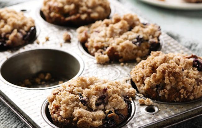 "Blueberry Avocado Muffins with Lemon Streusel Topping from ""From Freezer to Table"" Cookbook (copyrighted)"