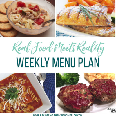 Real Food Menu Plan for September 15 to September 21: Easy and delicious meal ideas that the whole family will love. Posted every Friday at Thriving Home. Easy and delicious meal ideas that the whole family will love. Posted every Friday at Thriving Home. for Pinterest