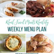 Real Food Menu Plan for September 22 to September 28: Easy and delicious meal ideas that the whole family will love. Posted every Friday at Thriving Home. Easy and delicious meal ideas that the whole family will love. Posted every Friday at Thriving Home.