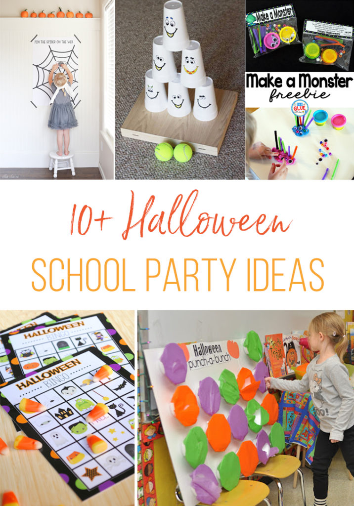 A great collection of Halloween game ideas for school parties. Also great game ideas for any Halloween party you may have in your future.