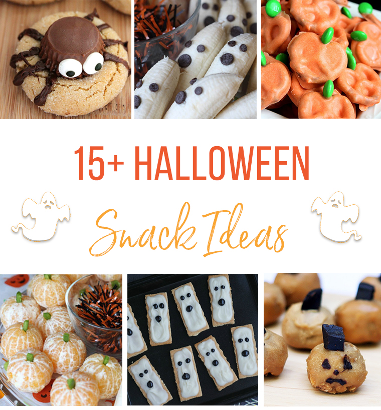 A great collection of Halloween Snack Ideas. These would be perfect for a Halloween school party as well. #Halloween #Snack