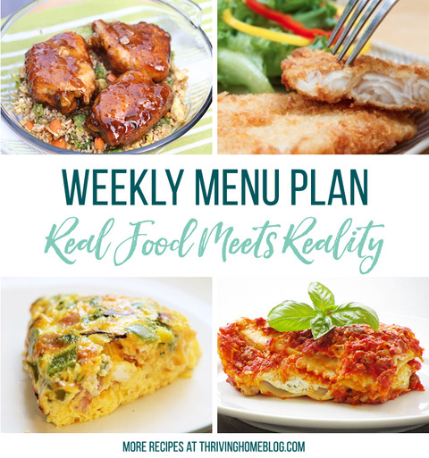 Real Food Menu Plan for October 27 to November 1: Easy and delicious meal ideas that the whole family will love. Posted every Friday at Thriving Home. Easy and delicious meal ideas that the whole family will love. Posted every Friday at Thriving Home.