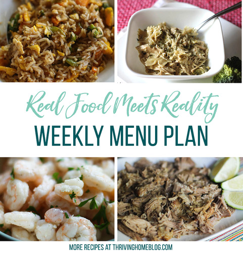 Real Food Menu Plan for October 20 to October 26: Easy and delicious meal ideas that the whole family will love. Posted every Friday at Thriving Home. Easy and delicious meal ideas that the whole family will love. Posted every Friday at Thriving Home.