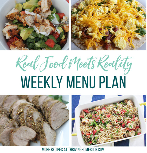 Real Food Menu Plan for October 13 to October 19: Easy and delicious meal ideas that the whole family will love. Posted every Friday at Thriving Home. Easy and delicious meal ideas that the whole family will love. Posted every Friday at Thriving Home.