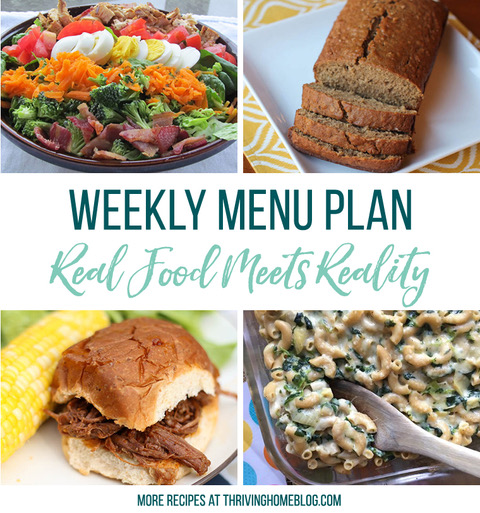 Real Food Menu Plan for November 3 to November 9: Easy and delicious meal ideas that the whole family will love. Posted every Friday at Thriving Home. Easy and delicious meal ideas that the whole family will love. Posted every Friday at Thriving Home.
