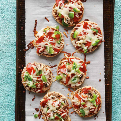 English Muffin Pizzas are easy, kid-friendly, and freezable.