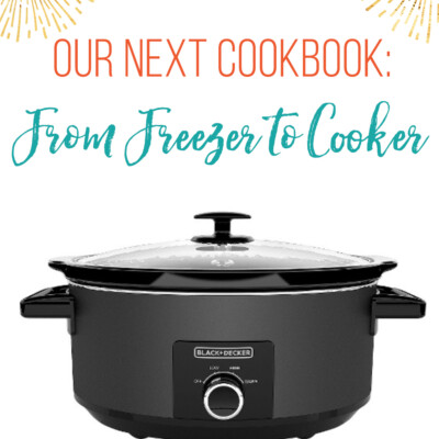 Our Next Cookbook, From Freezer to Cooker, Is in the Works!