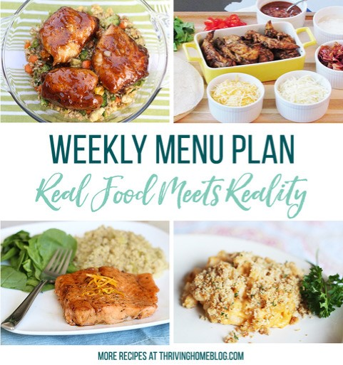 Real Food Menu Plan for November 25 to December 1: Easy and delicious meal ideas that the whole family will love. Posted every Friday at Thriving Home. Easy and delicious meal ideas that the whole family will love. Posted every Friday at Thriving Home.