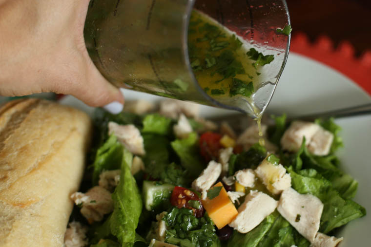 This Cilantro Chicken Chopped Salad is fresh, vibrant, and makes a great lunch.
